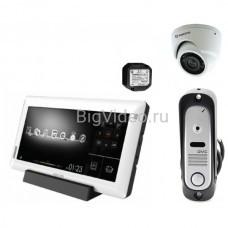 Комплект видеодомофон KOCOM KCV-A510R + вызывная панель + камера
