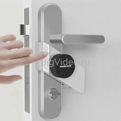 Электронный замок Sherlock от Xiaomi открытие замка телефоном и пультом