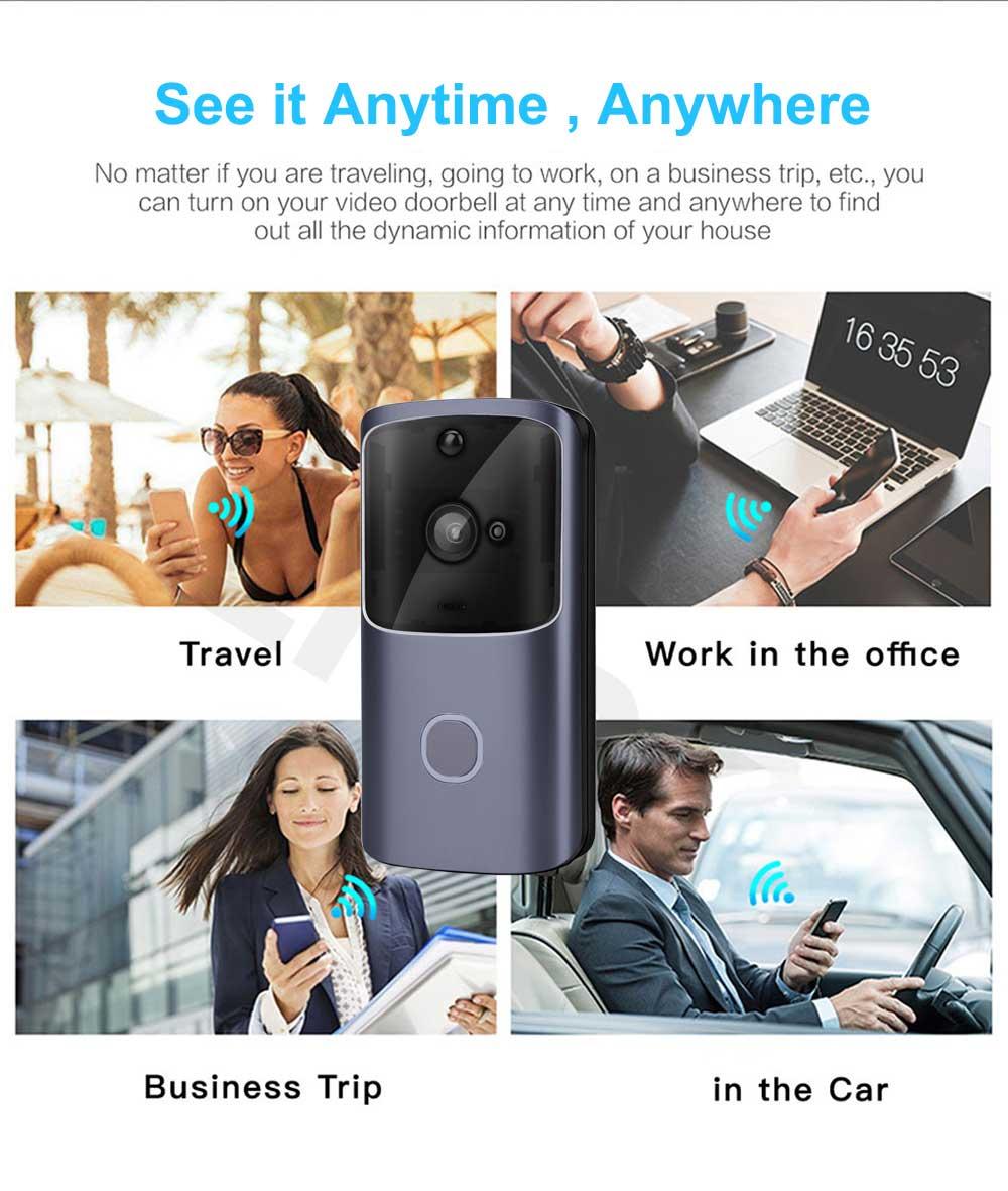 видеозвонок с WiFi на дверь